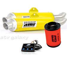 HMF Performance YELLOW Dual Slip Exhaust + EFI Uni Filter Can am Renegade 800 12