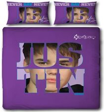 Justin Bieber Autograph Official Double Duvet Cover Bed Set Never Say Never