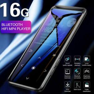 Music Player 16GB MP3/MP4 Bluetooth Lossless Sound Portable FM Radio Voice UK