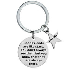 Key Chains Good Friends Are Like Stars Key Rings Friendship Keychains Keyrings