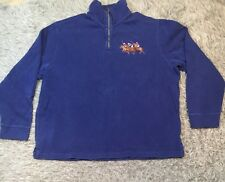Polo Ralph Lauren Dual Match Half Zip Sweater Pullover Blue XXL Jockey Horse