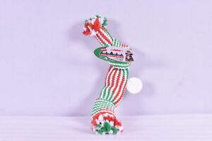 Ethical Dot Spot Holiday Super Squeak 2 Knot Rope Toy with 2 Squeakers