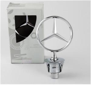 Mercedes-Benz Star Standing Hood Logo Emblem Badge 3D Fit E350 S550 W221 E-Class