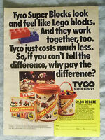 1985 Magazine Advertisement Ad Page Tyco Super Blocks Building Sets Lego Buckets