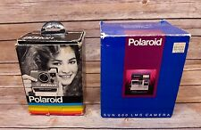 Polaroid THE BUTTON Land & SUN 600 LMS 2 Camera BUNDLE Original Boxes UNTESTED