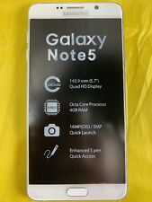 Samsung Galaxy Note5 SM-N920 - 32 GB - White Pearl (Verizon) Unlocked Smartphone