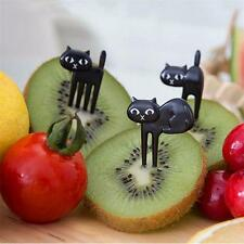 6pcs Cats Food Fruit Picks Forks Lunch Box Accessory Decor Tool X-mas US