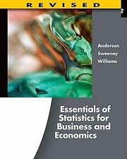 Essentials of Statistics for Business and Economics, Anderson college textbook