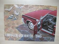 Chrysler Plymouth Export brochure Prospekt text Dutch 12 pages 1965