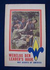 Vintage 1981 Webelos Den Leader's Book BSA Boy Cub Scouts America Handbook