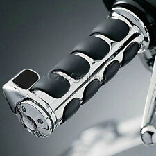 "Chrome 7/8"" Bar Throttle Hand Grips Fit Honda CBR 600 900 929 954 1000 RR 1100XX"