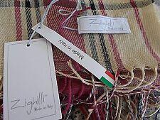 NWT  Zighilli NEW Made in Italy Women Shawl Scarf Cardigan Beige Multi 1 Size