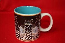 Laurel Burch Coffee Mug c.2014  Polka Dot Gatos Cats Design