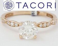 Anillos de joyería con diamantes de oro rosa de compromiso SI2