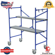 Werner Portable Rolling Scaffold 500 Lb. Load Capacity Scaffolding Frame Tower