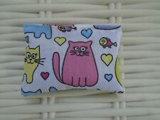 CATNIP SQUARE PILLOW SQUARES CAT THEME FULL OF STRONG CATNIP HOURS OF PLAY NEW