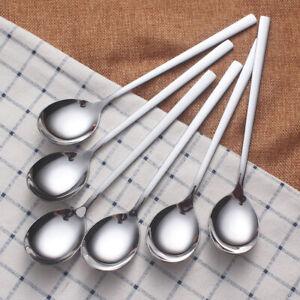 Stainless Steel Korean Spoon Fork Thickening Cutlery Square ShankTableware;