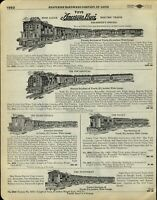 1929 PAPER AD 3 PG American Flyer Toy Train Sets President's Special Pocahontas