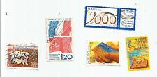 La Francia; LOTTO DI 5 DEI FRANCOBOLLI COMMEMORATIVI-Include. Color Pulce, UMBRIA, i diritti dell'uomo * S