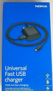 Genuine AC-60X 1.5A Micro USB Charger for Nokia 1 2 3 5 6 + Lumia Phones UK