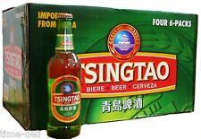 Bier 1 Karton 24 Flaschen Tsingtao a 330ml + 6 Gläser incl. Pfand (1L=4,54€)