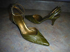 FLORA GIANNI BINI WOMENS SHOES SIZE 8 M LEATHER HEELS ANKLE STRAP