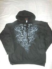 MIAMI INK  SKULL BLACK HOODIE/ Hooded Sweatshirt Size M