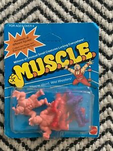 M.U.S.C.L.E. Men Kinnikuman 4 Pack Sealed New Mattel 1985 Muscle Men