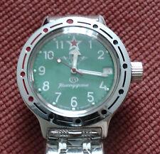 Wrist Amphibian Automatic Mechanical Komandirskie Mens Watch VOSTOK VDV 420307