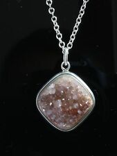 Sterling silver pendant with uncut Amethyst by Anni & Bent Knudsen