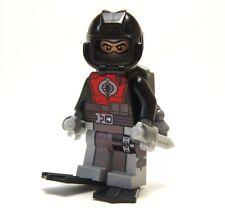 Lego GI Joe Custom - - - - - COBRA EEL - - - -  Army Soldier green beret