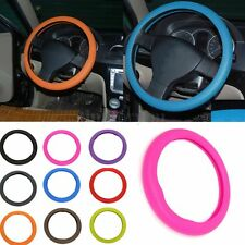 Universal Silicone Texture Leather Skidproof Car Steering Wheel Soft Cover