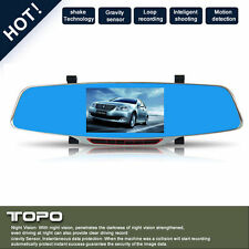 HD 1080P Mirror Dash Dual Car DVR Video Camera Recorder Night Vision Crash Cam