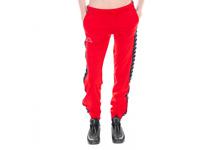 Kappa Women 222 Banda Wrastoria Slim Track pants, Red/ Black