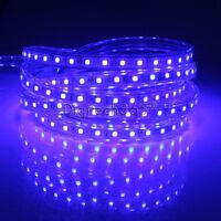 SMD3014 Luces de cinta-tira LED flexible AC220V 60 LED/m impermeable (Azul)