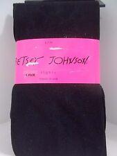 Betsey Johnson tights 2 pk size S/M black/design
