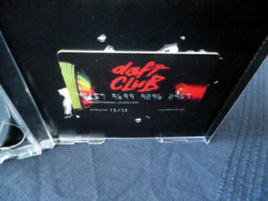 Daft Punk Club Card Membership Daftcard (Unused) with CD Discovery Album
