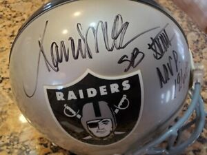 Raiders MARCUS ALLEN Signed Full Size Authentic Helmet AUTO 4 w/ Scripts - PSA