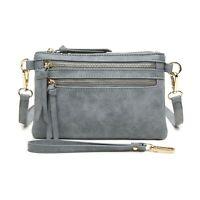 Aitbags Women Crossbody Bag Leather Messenger Handbag Clutch Purse with Wristlet