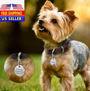 Paw Print Rhinestones Custom  Laser Engraved Dog Cat Tag Personalized/Free Ring