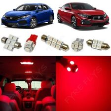 Red LED interior lights & reverse package kit 2016-2018 Civic +Tool HC6R