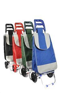 Large Lightweight Folding Shopping Cart Trolleys - 2 Wheel - LARGE CAPACITY