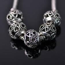 10pcs 12mm Tibetan Silver European Charm Loose Hollow Metal Big Hold Beads 18#