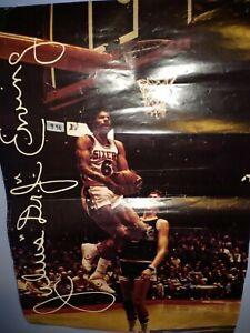 RARE Vintage Converse Dr. J Julius Erving Philadelphia 76ers Poster 14 x 20.5