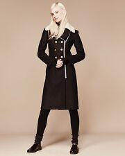 NWT Rag & Bone Sullivan Double Breasted Shearling Collar Wool Coat Zip Jacket 6