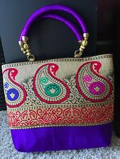 Handmade Banarasi Clutch Bag - Ethnic Design