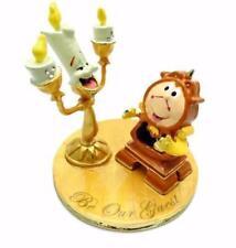 Disney Classic Beauty & Beast Cogsworth & Lumiere Figurine Boxed New DI350