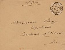 LETTRE SIMPLE 1915 AVEC SUPERBE CACHET PRISONNIERS DE GUERRE PONTARLIER 25