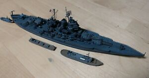 1/700 USS NEW MEXICO BB40,Built resin model with extra auxiliary ships, boats