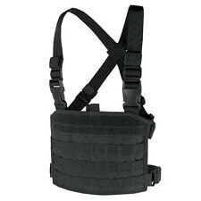 Condor MCR3-002 BLACK Tactical MOLLE Compact Modular Panel Pocket Chest Rig Vest